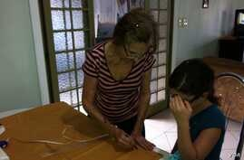 Noa learned to sew from her grandmother.
