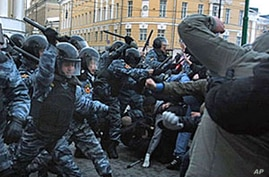 Russia Tightens Security After Nationalist Riot Near Kremlin