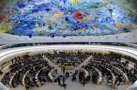 General view at the opening day of the 22nd session of the United Nations Human Rights Council on February 25, 2013 in Geneva.