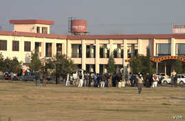 National and international media scrambled to get as much information as possible on the campus of Bacha Khan University Wednesday hours after security forces finished their operation and declared the campus clear. Bacha Khan University in Charsadda,