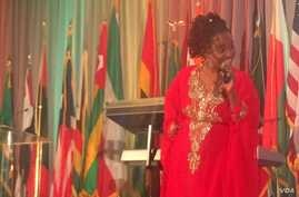 Kenya musician, poet and storyteller Anna Mwalagho also appeared at an Africa Day gala in Washington, May 27, 2016.