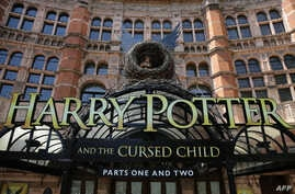 The front of the Palace Theatre promotes its new show 'Harry Potter and the Cursed Child'  in London on June 6, 2016.