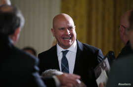 National Security Adviser H.R. McMaster attends a ceremony in the East Room of the White House in Washington, Oct. 23, 2017.