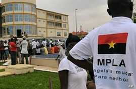 The local branch of the Movement for the liberation of Angolan People (MPLA) is seen Cabinda, Angola on 20 Jan 2010