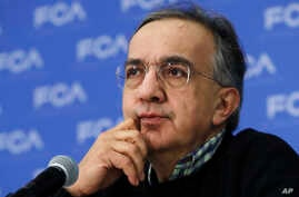 FILE - In this photo dated, Jan. 9, 2017, Fiat Chrysler CEO Sergio Marchionne attends a briefing at the North American International Auto show, in Detroit.