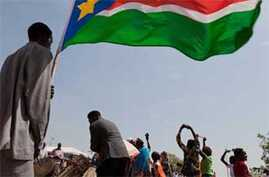 Celebrations at the John Garang Memorial in Juba during the January referendum on independence