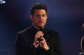 Michael Buble makes a guest appearance on the Italian TV Show, Milan, Nov. 4, 2018.