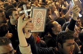 Angry Copts Attack Vehicle Carrying Egypt's Top Muslim Clerics