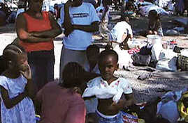 Report: Haitian Camps Squalid, Plagued by Violence