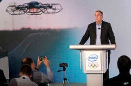 Intel CEO Brian Krzanich explains how the company will collaborate with the International Olympic Committee to deliver new experiences for the Olympic Games going beyond what has been seen at the Games at the Intel, June 21, 2017, in New York.