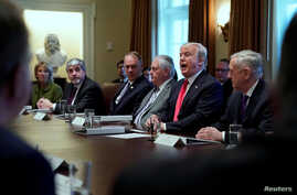 U.S. President Donald Trump holds a Cabinet meeting at the White House in Washington, Jan. 10, 2018.