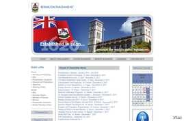 A portion of the Bermuda Parliament's home page.