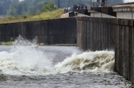 Spillway Opened to Save New Orleans from Flood Waters