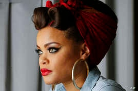Recording artist Andra Day poses for a portrait in Atlanta, Jan. 24, 2016.