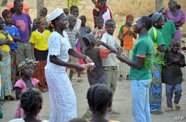 Children playing with their teachers in the yard of the Catholic school of Blangoua, northern Cameroon, (File photo).