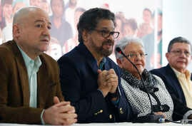 Ivan Marquez, a former leader of the Revolutionary Armed Forces of Colombia, FARC, announces the withdrawal of former guerrilla commander Rodrigo Londono from the race for president, citing both criticism of the political process and his serious heal