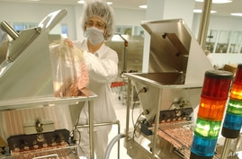Drug production at Hoffman-La Roche pharmaceutical company in Nutley, new Jersey (file photo)