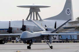 Predator B unmanned aircraft taxis at the Naval Air Station in Corpus Christi, Texas. (File photo)