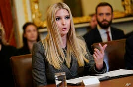 Ivanka Trump, the daughter and assistant to President Donald Trump, speaks during a news conference to discuss Build Act implementation at the Capitol in Washington, Nov. 14, 2018.