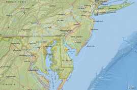 A rare earthquake jolted the Mid-Atlantic region of the East Coast on Thursday evening, but there were no immediate reports of damage or injuries. The quake was centered about 6 miles (10 kilometers) east-northeast of Dover, Delaware.
