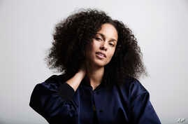 """Alicia Keys poses for a portrait in New York to promote her sixth album, """"Here,"""" Nov. 2, 2016."""