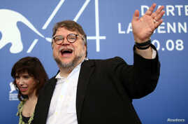 """Director Guillermo del Toro poses during a photocall for the movie """"The Shape of Water"""" at the 74th Venice Film Festival in Venice, Italy, Aug. 31, 2017."""