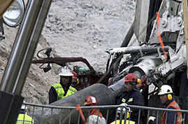 Miners' Escape Shaft Reinforced, Rescue Nears
