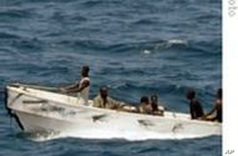 A Somali pirate boat
