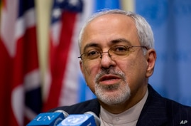 FILE - Iranian Foreign Minister Mohammad Javad Zarif speaks to the media.