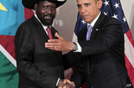 South Sudan President Meets With Obama