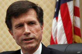 U.S. Assistant Secretary of State Robert Blake speaks at a news conference in Bishkek, Kyrgyzstan (FILE).