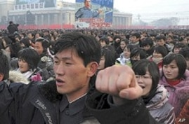 North Koreans Rally in Show of Support for New Leader