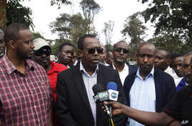 """FILE - Somali diplomat Mohamed Ali Nur, pictured in an interview in Nairobi in September 2013, thanked Ethiopia for releasing 114 prisoners. """"Only six Somalis remain in the Ethiopian jails, and we have agreed that they will soon be released,"""" he said"""