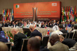 Attendees take part in the 15th International Energy Forum Ministerial (IEF15) in Algiers, Algeria,  Sept. 27, 2016.