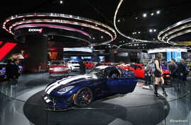 A Dodge Viper ACS is on display at the North American International Auto Show in Detroit, Jan. 11, 2016.
