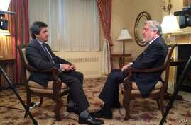 Afghanistan's chief executive officer Abdullah Abdullah speaks to Said Sulaiman Ashna of VOA Afghanistan service, Sept. 27, 2015.