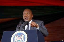 Kenyan President Uhuru Kenyatta delivers his speech to the nation during the 53rd Jamhuri Day Celebrations (Independence Day) at Nyayo Stadium in Nairobi, Monday, Dec. 12, 2016.