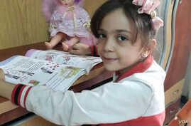 Bana Alabed, 7, has been tweeting about fighting in her home town of Aleppo, Syria, Sept. 26, 2016.