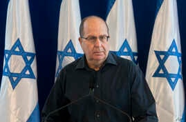 Israel's Defense Minister Moshe Yaalon, speaks during a press conference at the Defense Ministry in Tel Aviv, Israel, May 20, 2016.