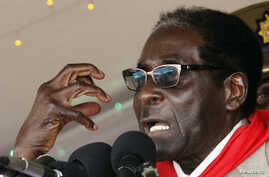 Zimbabwe's President Robert Mugabe gestures as he speaks during an event marking his 89th birthday in Bindura, about 90 km north of the capital Harare Mar. 2, 2013.