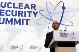 U.S. President Barack Obama speaks during a press conference at the conclusion of Nuclear Security Summit in Washington, April 1, 2016.