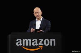 Amazon founder Jeff Bezos is seen at a product demonstration in Santa Monica, California, in this September 6, 2012, file photo.