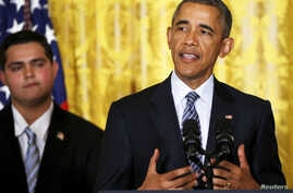 U.S. President Barack Obama delivers remarks on the Clean Power Plan at the White House in Washington Aug. 3, 2015.