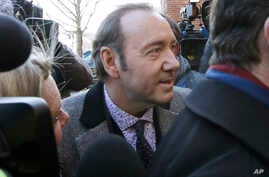 Actor Kevin Spacey arrives at district court, Jan. 7, 2019 in Nantucket, Massachusetts, to be arraigned on a charge of indecent assault and battery.