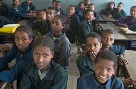 Ethiopian school children attend a class at a school in Addis Ababa (File Photo)