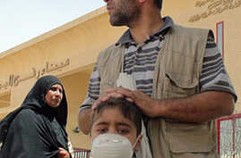 A young Palestinian boy is among those allowed into Egypt for medical treatment, Rafah, Egypt, 02 Jun 2010