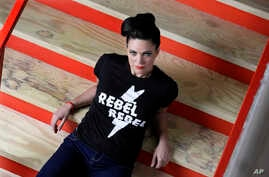 Singer and songwriter Angaleena Presley poses in Nashville, Tennessee, March 16, 2017.