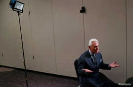 Roger Stone, longtime ally of U.S. President Donald Trump, speaks during an interview with Reuters in Washington, Jan. 31, 2019.
