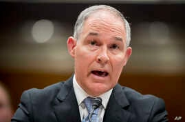 EPA Administrator Scott Pruitt testifies before a Senate Appropriations subcommittee on the Interior, Environment, and Related Agencies on budget on Capitol Hill in Washington, May 16, 2018.