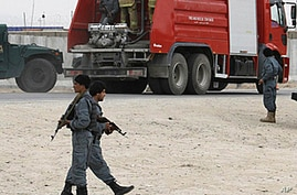 Suicide Bombers Storm Afghan Police Complex